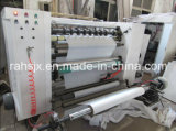 Máquina horizontal de Rewinder que raja para el rodillo de la película plástica/del papel