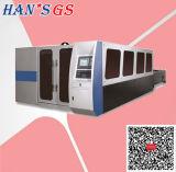 machine de découpage de laser de fibre de plaque d'acier du carbone de l'acier inoxydable 1500With2000W à vendre