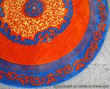 円のカーペットのウール
