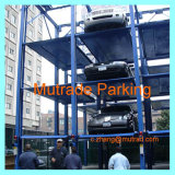 Three Levels Four Post Equipamento de parque hidráulico Auto Car Storage 4 3 Floor Car Stacker