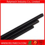L'acier du carbone Rod fileté, vis sans fin avec noircissent le traitement