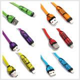 2 em 1 para o relâmpago de Apple/micro cabo de carregamento da transmissão de dados do USB para o iPhone 5/V8