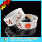 O Wristband largo do silicone de 1 polegada, tinta encheu o Wristband (TH-band031)
