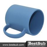 B11c-Flb Bestsub Sublimation 11oz Full Color Mug (Frosted, Leuchte-blau)