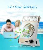 ventilatore solare solare portatile di CC del ventilatore da tavolo 3in1 con l'indicatore luminoso del LED