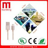 Cable micro del USB del cargador de V8 de la conexión del micr3ofono del cable redondo colorido del USB