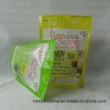 Levantarse las bolsas de plástico con propia insignia para el azúcar de empaquetado