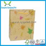 Saco de compra personalizado luxo do papel Handmade com punho