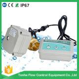 Клапан электрическим управлением сигнала тревоги утечки воды 2 дорог латунный для обнаружения утечки воды