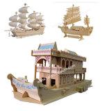 Modelo de madera del plano del modelo de nave, cortadora del laser del CO2 del arte