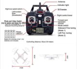 Flashing Light + 2.0MP HD Camera + 2g Micro SD Card + 3.7V 500mAh를 가진 0735c1 2.4GHz 6 축선 Gyro RC Quadcopter