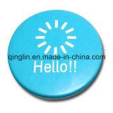 Distintivo blu della latta del metallo di stampa su ordinazione dello schermo (QL-MKT-0002)