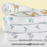Хлопок муслина Swaddle Blanket комплект для младенца с шикарной конструкцией
