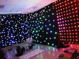 Ledj Star Curtain Twinkling Matrix СИД Cloth с фоном RGBW Mix Full Colors 4*6m RGB Star