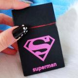 Caixa de cigarro feita sob encomenda por atacado do silicone da forma do superman da impressão do logotipo