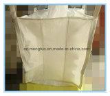 A emenda lateral dá laços na parte inferior lisa e no saco maioria superior de enchimento do bico FIBC com defletor