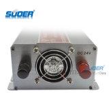 Suoer outre de l'inverseur de véhicule modifié par 220V d'onde sinusoïdale du réseau 1500W 24V (STA-1500B)