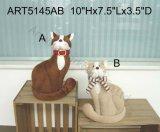 かわいい羊毛猫のホーム装飾のおもちゃ2asst.
