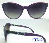 نمط جديدة بلاستيكيّة نساء نظّارات شمس مع تصميم لطيفة