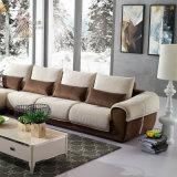 Brown semplice e sofà bianco del tessuto (987A)