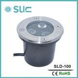3W LED Outdoor Ground Garden Path Floor Underground Buried Yard Lamp Spot Landscape Light IP67 Imperméable à l'eau