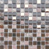 Mosaico di cristallo di vetro moderno di 8mm per la stanza da bagno