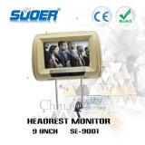 Prix usine de Suoer lecteur vidéo élevé de véhicule de définition de moniteur d'appui-tête de véhicule de moniteur de véhicule de 9 pouces (SE-9001)