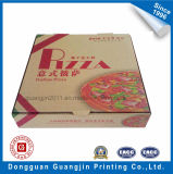 Packpapier-gewölbter Vierecks-Form-Pizza-Kasten Brown-