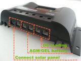 Contrôleur solaire 30A de chargeur de RoHS Fangpusun 12V 24V PWM de la CE