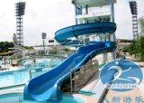 Vert bleu extérieur spiralé fermé de glissière d'eau d'adultes pour le stationnement d'Aqua