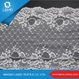 Ancho blanco elástico francés tricot encaje para el vestido