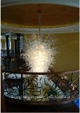 Projeto original candelabro fundido do vidro da decoração