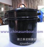 Vapor de /Enamelware/Enamel del crisol de guisado del esmalte del crisol de las existencias del esmalte de Sunboat 7qt