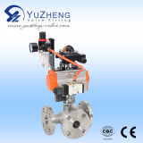 2PC Stainless Steel Pneumatic Ball Valve