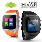 Telefone esperto Android do relógio de Gelbert X01 3G WiFi GPS WCDMA