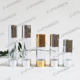 15g 30g 50g como o frasco cosmético mal ventilado transparente plástico com bomba da loção (PPC-NEW-021)
