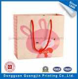 Fancy Pink Color Printed Paper Gift Bag Bolsa de transporte