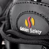 屋外のハードワークM-8307のための高い切口の革安全靴