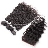 Großverkauf-Menschenhaar 100% Products Virgin Hair Piece mit Hair Bundles (FDX-YY-KBL)