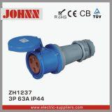 Conetor industrial de IP44 3p 63A com certificação do Ce