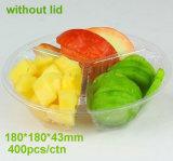 Bandeja colorida de encargo de la ampolla de la cubierta para el empaquetado de la fruta