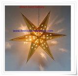Cine de la linterna de papel de oro, decorativo linterna estrella granel Linterna china
