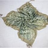 Madame Big Square 100 * 100 cm, les quatre écharpes s'arrêtantes de coton en soie