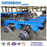 9m barre d'attelage à plat de 4 essieux tirant le chariot troquent complètement semi la remorque