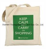 Bolsa de compras de lona de algodão orgânico natural natural reutilizável grande de Eco