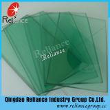 深緑色かフランスの緑のフロートガラス染められた