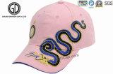 Gorra de béisbol 100% del algodón de la aduana de la alta calidad con el dragón del bordado