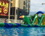 Раздувное оборудование для скольжений, Trampoline парка воды, скача, прыжок