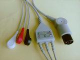 Cable de Snap&Clip Rou 6pin 3 ECG del monitor paciente
