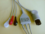 Geduldige Monitor Snap&Clip Rou 6pin Kabel 3 ECG